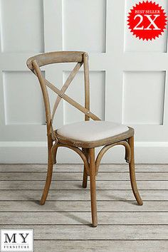 #my-furniture 2 x #chamborde #cross back chairs,  View more on the LINK: http://www.zeppy.io/product/gb/2/201414433607/