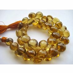 Beer Quartz Beads Onion Briolettes Faceted by gemsforjewels, $74.90