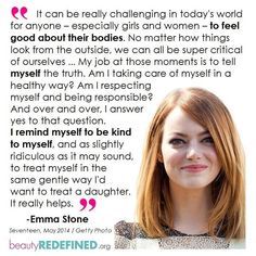 Emma Stone. Wish my mother had treated her daughters this way.