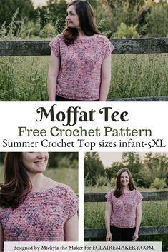 Crochet Tunic, Bunny Crochet, Crochet Clothes, Free Crochet, Easy Crochet, Crochet Flowers, Crochet Vests, Crochet Sweaters, Crochet Dresses