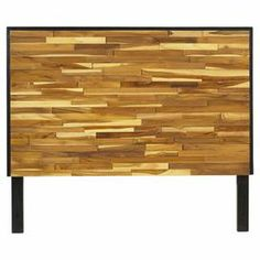 """Artfully crafted of reclaimed teak wood, this handsome headboard brims with rustic appeal.   Product: Queen headboardConstruction Material: Reclaimed teak woodColor: BrownFeatures:  3D-Paneling detailsNatural finishDimensions: 54"""" H x 81.5"""" W x 3"""" D"""