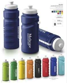 Slam Water Bottle - 500ml Slam Water Bottle - free branding offered by Best Branding No minimum order qty: Best Branding setup applies. Available in 9 vibrant colours, manufactured locally allowing short replenishing times. Awesome white visi -stripe indicating capacity. Push-pull spout and wide screw-lid for easy cleaning, filling. BPA free. Custom colours available on request. MOQ 5 000 pieces. FDA approved materials. BPA free. 500ml. Water Bottles, Best Brand, Vibrant Colors, How To Apply, Branding, Instagram Posts, Plastic, Sports, Hs Sports