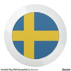 Swedish Flag USB ChargeHub USB Charging Station