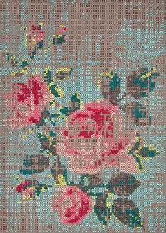 Canevas Cross Stitch Collection by Charlotte Lancelot for GAN - Cross Stitching, Cross Stitch Embroidery, Cross Stitch Patterns, Motifs Blackwork, Tapis Design, Cross Stitch Collection, Le Point, Modern Rugs, Contemporary Rugs