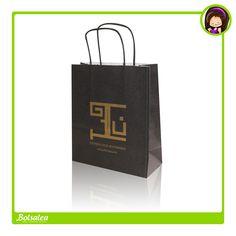 Y esta #bolsa de papel impresa en color oro