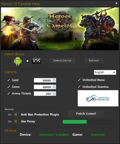 Heroes of Camelot Hack Cheats Tool  Heroes of Camelot Hack is Modhacks.com a new tool, that we all want to present to you. If you ever glimpse at all the other hacks on line, this amazing tool is the most effective. This specific tool was made to be functioning on Android os and iOS …