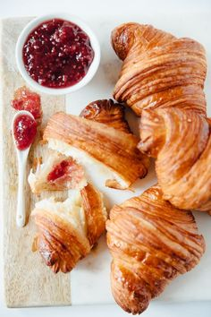 The Kitchn's Baking School Day 15: All about croissants. Join The Kitchn's Baking School: Sign up and see all The Kitchn's Baking School assignments Anyone else dream of waking up to warm, flaky croissants in the morning? Their crispy shells and a whisper of steam from between the buttery layers calling you out from slumber? There truly is nothing better than a fresh-from-the oven croissant. And with a bit of planning, you can make your croissant-eating dreams a reality in your own kitchen…