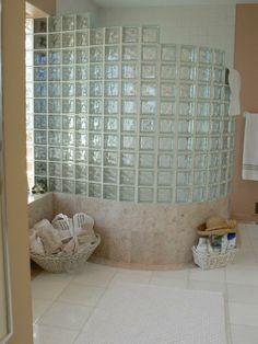 Tile shower with glass blocks by Darrow's CarpetsPlus COLORTILE, Stanwood, WA. (360) 629-9604 www.carpetstanwood.com www.facebook.com/darrows.carpets Glass Blocks, Carpets, Shower Ideas, Tile, Bathtub, Facebook, Design, Farmhouse Rugs, Standing Bath
