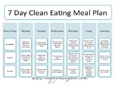 7 Day Clean Eating Meal Plan - 12 Trending Clean Eating Diet Plans to Lose Weight Fast