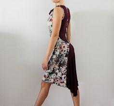 Vestido con estampado floral para bailar tango milonga