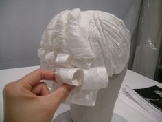 cosplay diy tutorial | Fashioning Fashion's Paper Wigs: How'd We Do It?
