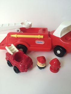 Vintage Little Tikes Red Fire Engine Truck Fireman Toddle Tots Plastic Ladder #LittleTikes