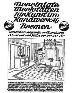 """Advertisement of """"Vereinigte Werkstätten"""", Bremen 1909"""