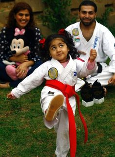 Don't dare mess with karate kid Khiyara