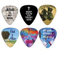 Christian Guitar / Guitar Pick Art / Christian Musician