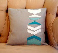 Chevron Applique Pillow Cover.
