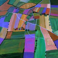 "Saatchi Online Artist Toni Silber-Delerive; Painting, ""Open Field Cultivation"" #art"
