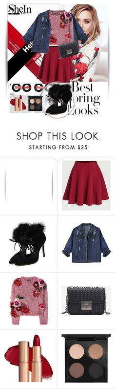"""SheIn 1/1"" by dinna-mehic ❤ liked on Polyvore featuring Chanel, Olsen, H&M, Dolce&Gabbana, MAC Cosmetics, BERRICLE and Sheinside"