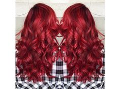 Long red hair for this summer
