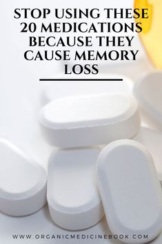 Stop Using These 20 Medications Because They Cause Memory Loss – Organic Medicin… - Health Remedies Natural Cough Remedies, Natural Health Remedies, Natural Cures, Herbal Remedies, Medicine Book, Herbal Medicine, Natural Medicine, Health Benefits, Health Tips