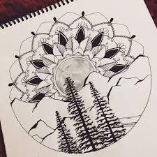 Resultado de imagen para forest tattoo drawing