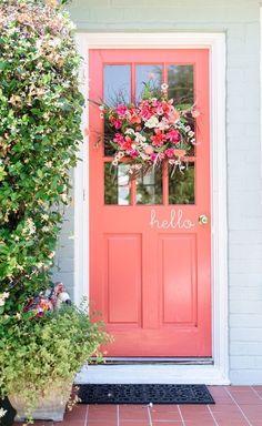 Front door color ideas to jazz up your exterior home decor. Choose from the best designs for 2020 and breathe new life into your door! Door Decorations, Coral Front Doors, House, House Exterior, Front Door, Beautiful Doors, Exterior, Curb Appeal, Doors
