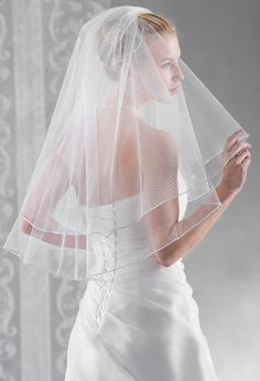 Our most popular new veil, dainty crystal edge, sparkling and romantic (10099)
