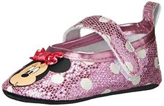 Disney Sparkle Crib Shoe Infant Pink 06 Months M US -- Want to know more, click on the image. (This is an affiliate link and I receive a commission for the sales) #BabyShoes