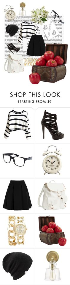 """""""Untitled #82"""" by juliana-lira ❤ liked on Polyvore featuring Gucci, Retrò, By Malene Birger, H&M, Forever New, Nearly Natural, Coal and Crate and Barrel"""