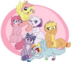 my little pony wiki | My little kittens by rppirate-d4oivcd.png