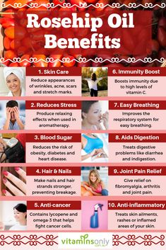 Learn the different benefits and uses of rosehip essential oil. Rosehip Oil Uses, Rosehip Oil Benefits, Charcoal Benefits, Essential Oils For Stress, Arthritis Relief, Healing Oils, Skin Firming, Health And Beauty Tips, Skin Care