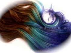 Brown Ombre Hair Extensions, Free People Hair, Periwinkle ...