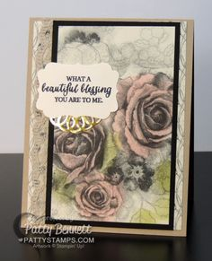 Create beautiful vintage floral rose cards with Timeless Elegance designer paper…