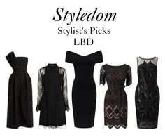 """""""Top 5 Little Black Dresses"""" by khouryolivia on Polyvore featuring Preen, Karen Millen, Jacques Vert and Adrianna Papell"""