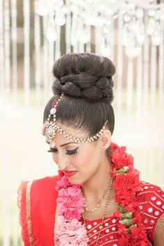 Indian Bride hairstyle. Updo.