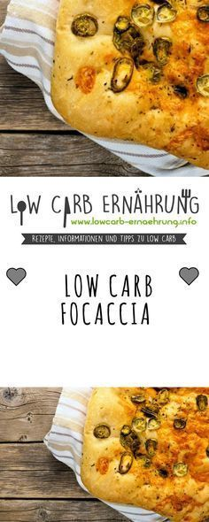 Low Carb Rezept für leckeres, kohlenhydratarmes Focaccia. Low Carb und einfach und schnell zum Nachbacken. Perfekt zum Abnehmen.