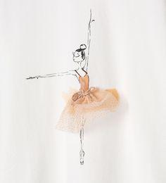Ballerina T - shirt - View all - T - shirts - Girl | 3 - 14 years - KIDS | ZARA Turkey