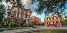 savannah, ga old houses | The Kehoe and Davenport Houses in Savannah Georgia