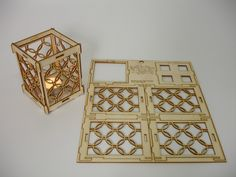 Laser cut tea light