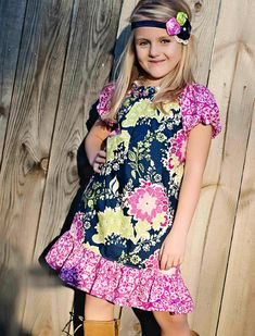 Free girls peasant dress sewing pattern « Trouves