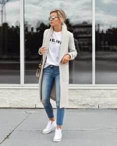 Thinking of work outfit ideas, one should make a stop at casual office attire ideas. There's no need always to look formal when there are casual chic business clothes Source by chic style spring Mode Outfits, Fall Outfits, Casual Outfits, Fashion Outfits, Fashion Clothes, Trendy Clothing, Sporty Chic Outfits, Stylish Clothes, Clothes Women
