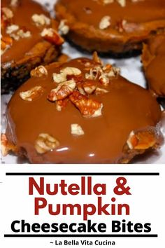 Nutella Best Italian Recipes, Great Recipes, Favorite Recipes, Mini Cheesecake Bites, Pumpkin Cheesecake, Nutella Cafe, Star Food, Seasonal Food, Mini Desserts
