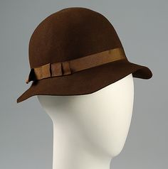 Cloche Abercrombie and Fitch Co. Date: 1928 Culture: American
