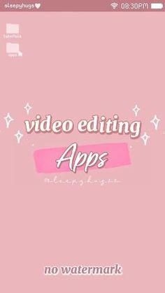 Youtube Editing, Video Editing Apps, Teen Life Hacks, Life Hacks For School, Life Hacks Websites, Useful Life Hacks, Aesthetic Editing Apps, Aesthetic Videos, Photography Editing Apps