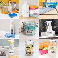 DIY Cleaning Products  Some are re-pins, but this way they're all in one list together. Maybe I'll have a day where I sit down and make all of them at once. 8}