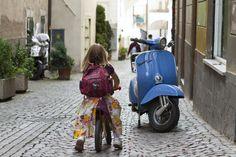 Mit dem Laufrad oder der Vespa unterwegs im Meraner Land