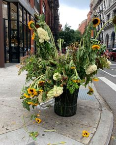 On the Street....Spring St & Bowery, NYC  #Regram via @thesartorialist Bloom Where You Are Planted, Nyc, Street, Spring, Plants, Plant, Walkway, New York, Planets