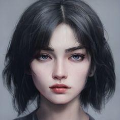 Vector Portrait, Digital Portrait, Portrait Art, Character Portraits, Character Art, Watercolor Night Sky, Digital Art Anime, Princess Girl, Character Aesthetic