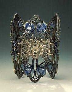 Art Nouveau. Bracelet, René Jules Lalique. ca 1900.  Silver, gold and enamel by wteresa