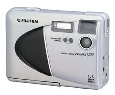 Fujifilm FinePix 1300 1.2MP Digital Camera. 1.3-megapixel CCD. 1,280 x 960 maximum image resolution. Built-in flash with red-eye reduction. Fixed-focus lens with macro setting. Uses SmartMedia cards for storage.